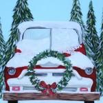 snowy truck