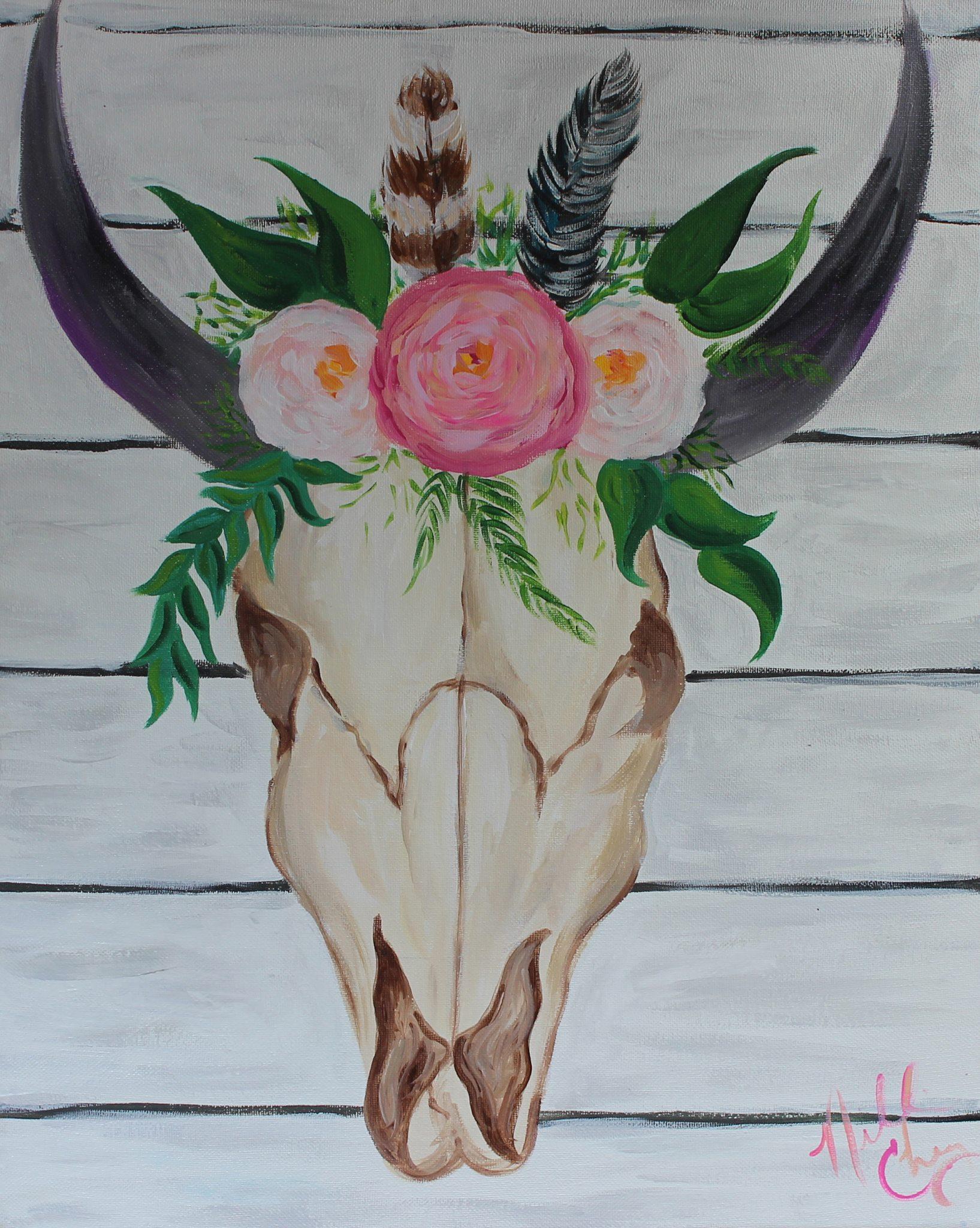 skullfloral
